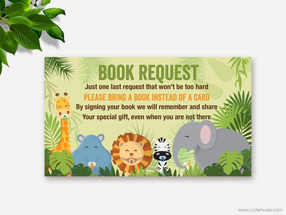 baby shower jungle theme instant download baby shower books j