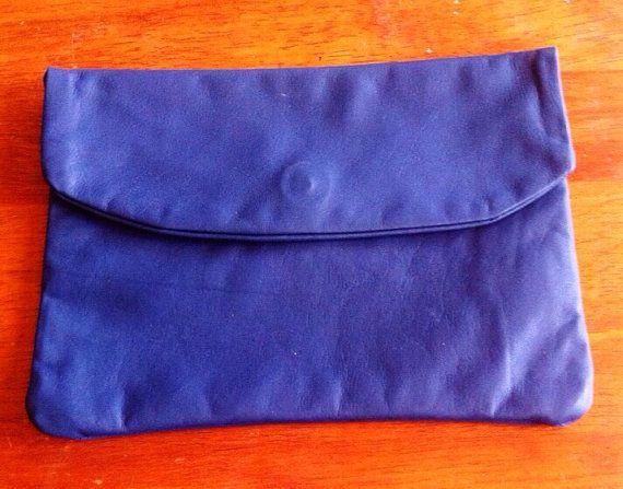 Leather Clutch with magnetic clasp by HunterAndEve on Etsy, $30.00
