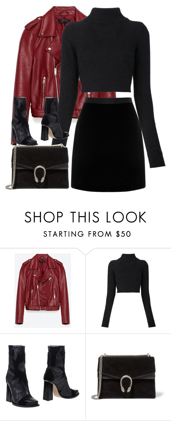 """Untitled #2941"" by elenaday on Polyvore featuring Jakke, Balmain, MSGM and Gucci"