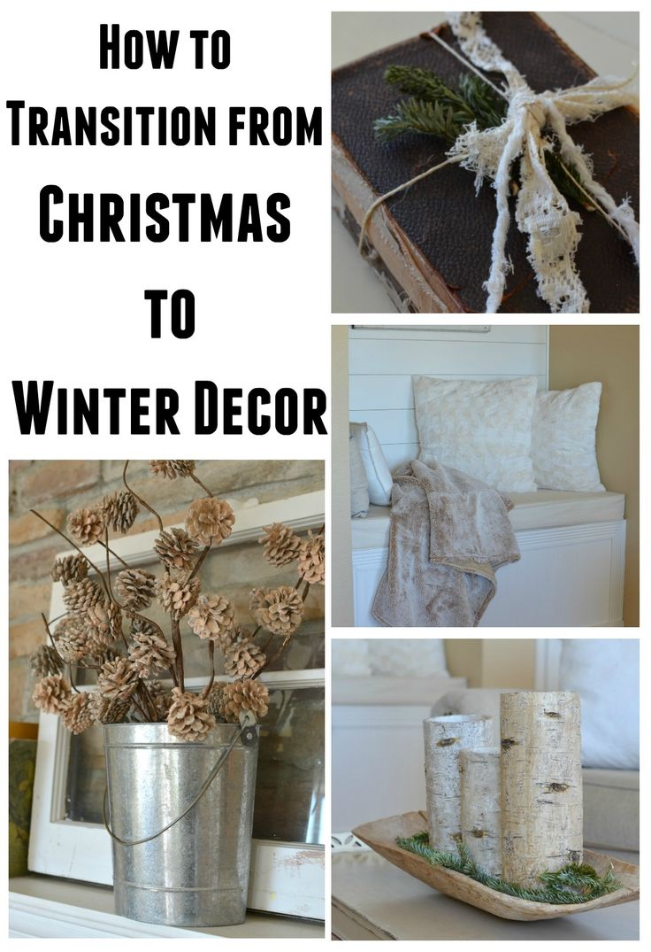 How To Transition from Christmas to Winter Decor. Easy tips and tricks to decorate your home after Christmas!