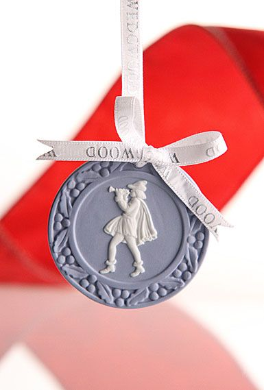 Wedgwood 12 Days of Christmas Disc Ornament - 11 Pipers Piping