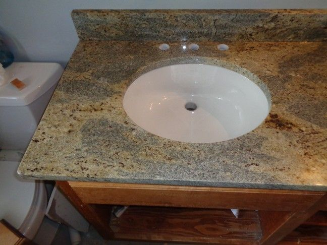 Eased Edge, Granite, Ivory White, Northbrook IL, Sink Granite Countertops  Projects Installed December 2015 By AMF Brothers