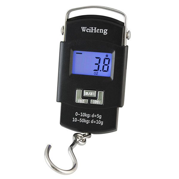 50kg/5g Temperature sensor Hanging Hook Fishing Digital Electronic Scale