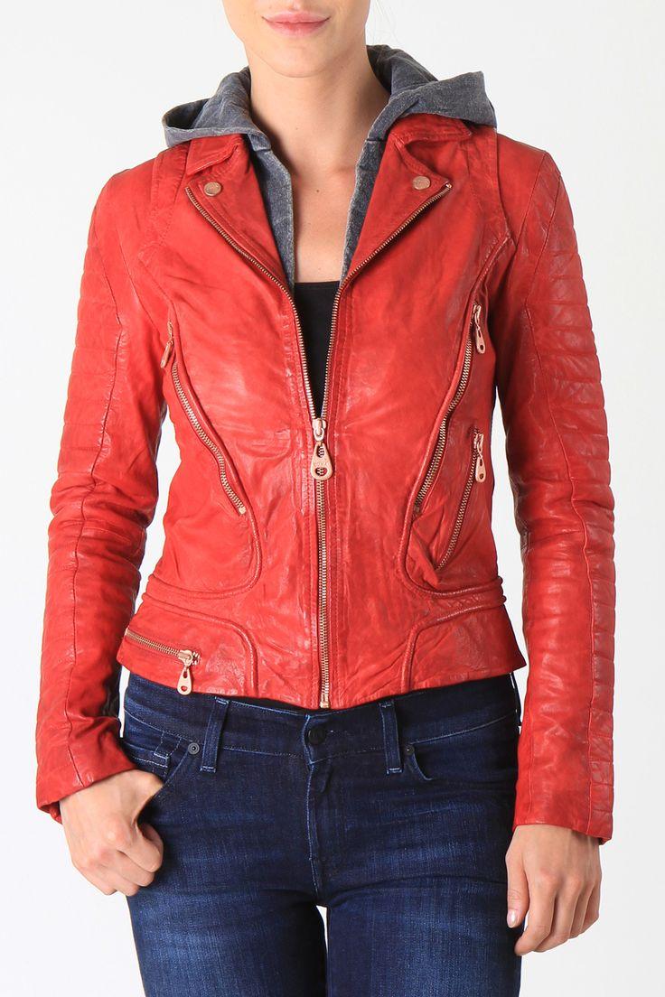 Doma Leather jacket 5439 LADY BUG RED - Lederen jassen | Dameskleding | JeansOnline