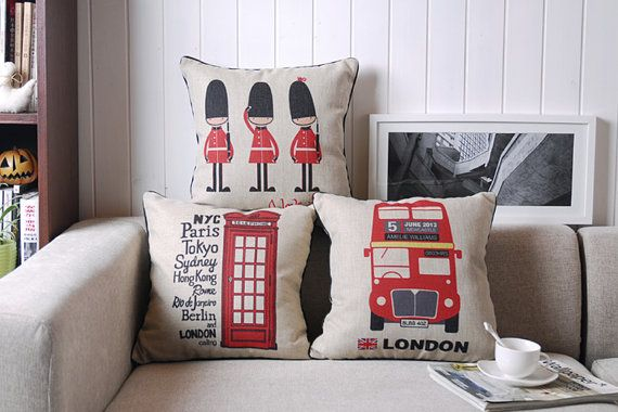 London-centric cushion covers. #BestofBritish