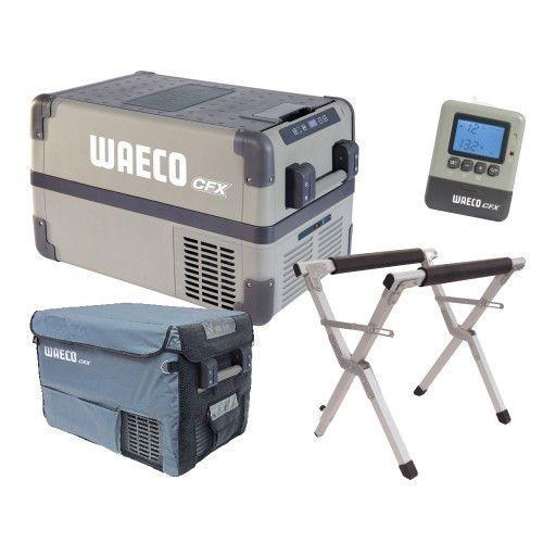 New Waeco CFX-50 Fridge/Freezer, Stand, Fridge Bag & Wireless Remote Bundle