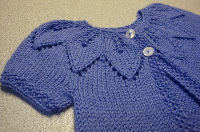Kim's Knitting Korner: Lavender Leaves: A sweet sweater for Baby Grace An...