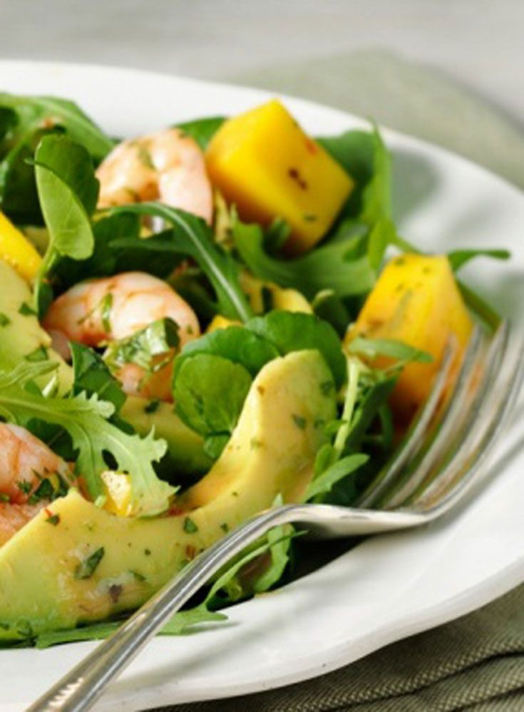 Mix things up in the salad department with this easy prawn, avocado and mango salad. It's also packed with nutritious watercress and spinach leaves and drizzled with a lime and chilli dressing to give it a kick.