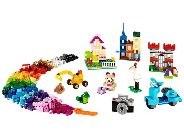 Create all kinds of buildings with LEGO® bricks, windows and doors!