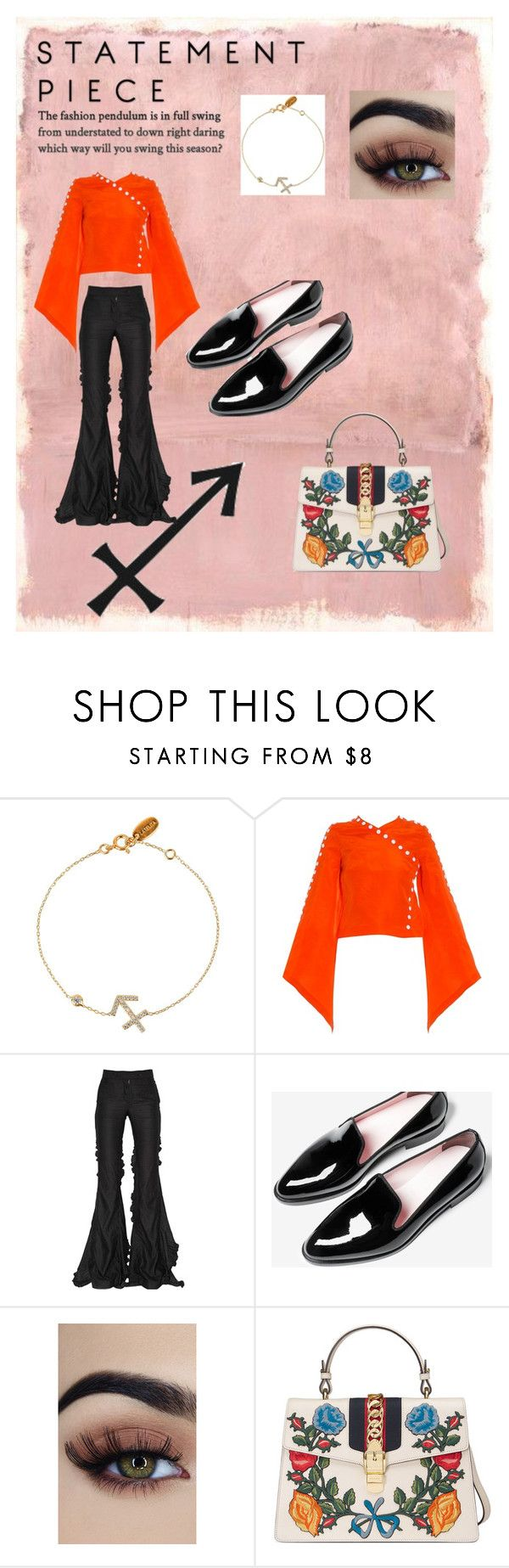 """Sagittarius"" by dmelife ❤ liked on Polyvore featuring Rothko, Rosie Assoulin, Marco de Vincenzo and Gucci"