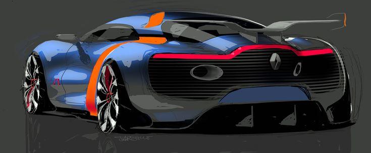 Renault Alpine A110-50, 2012 - Design Sketch
