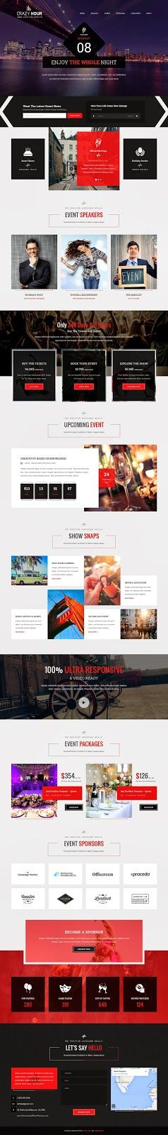 Crazy Hour Best #Event Management HTML Template #party #conference