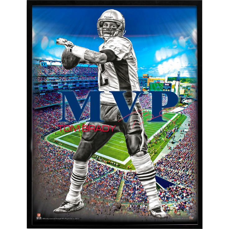 "Tom Brady New England Patriots 24"" x 18"" MVP Player Poster - $9.59"
