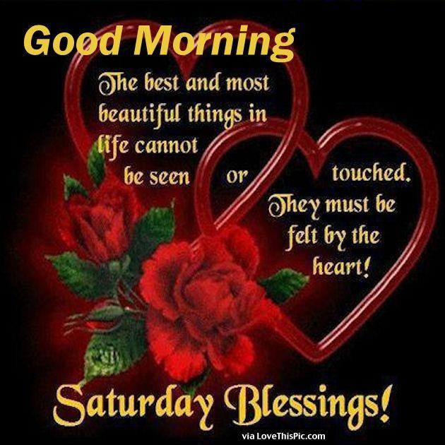 Good Morning Saturday Blessings Beautiful Inspirational