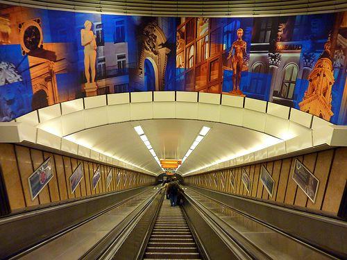 Metro station in Budapest (Deák Ferenc tér)