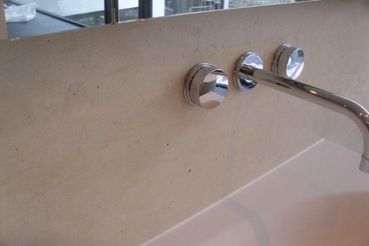 Kalk marmor putz struktur bad creme spachteltechnik for Marmor putz im bad
