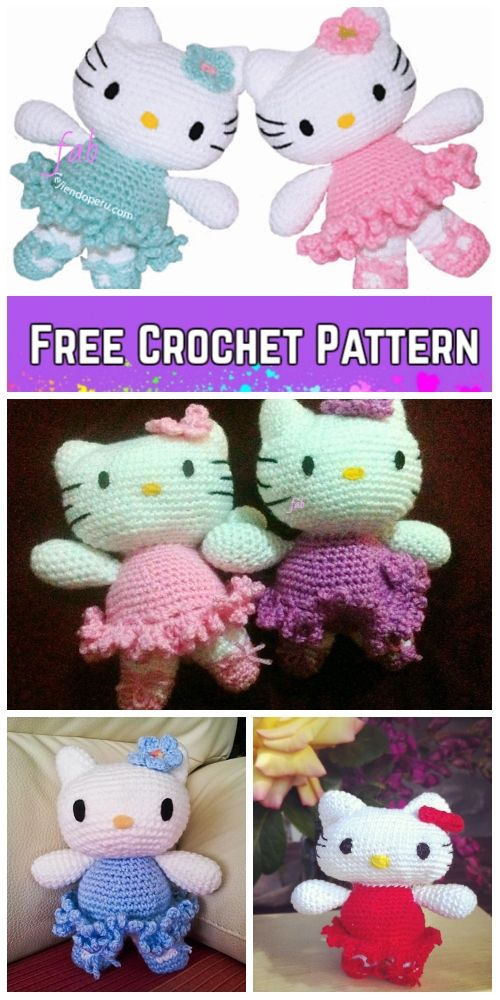 Crochet Hello Kitty amigurumi free pattern – Free Amigurumi ... | 1000x500