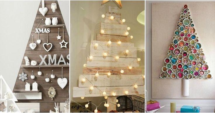 Rbol de navidad original cuando tienes poco espacio - Decoracion navidad original ...