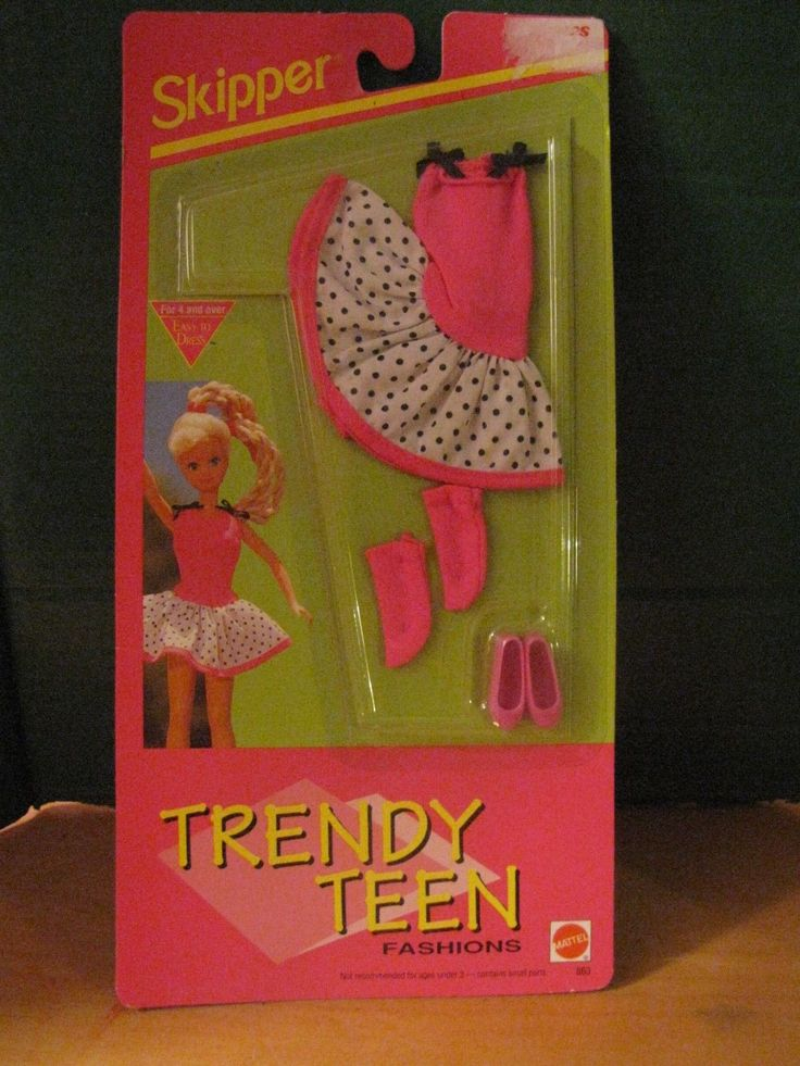 Barbie Skipper Trendy Teen Fashions New 1992 Mattel Weekend Wear Hot Pink | eBay