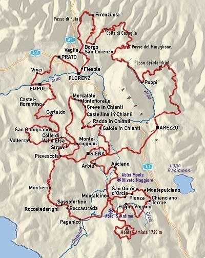 Toskana Karte