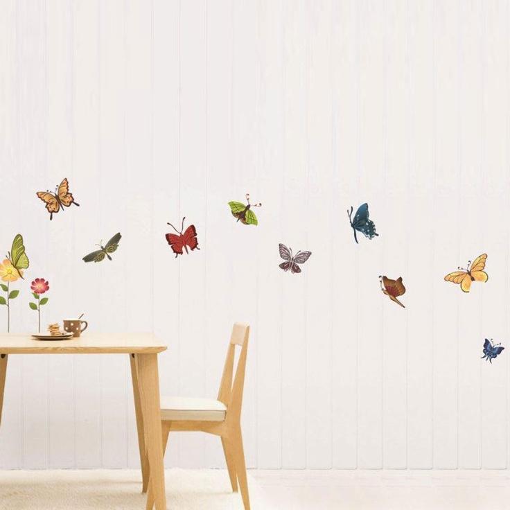 Best Butterfly Decor Images On Pinterest Beautiful - Wall decals butterfliespatterned butterfly wall decal vinyl butterfly wall decor
