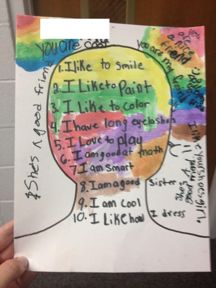 Self-Esteem Portraits Activity Music City School Counselor