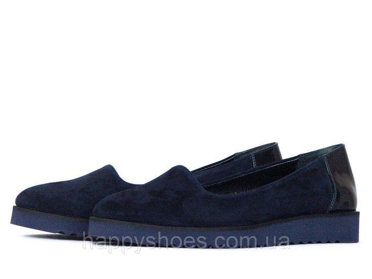 """Темно-синие туфли - купить по лучшей цене в Запорожье от компании """"HappyShoes"""" - 509376326"""