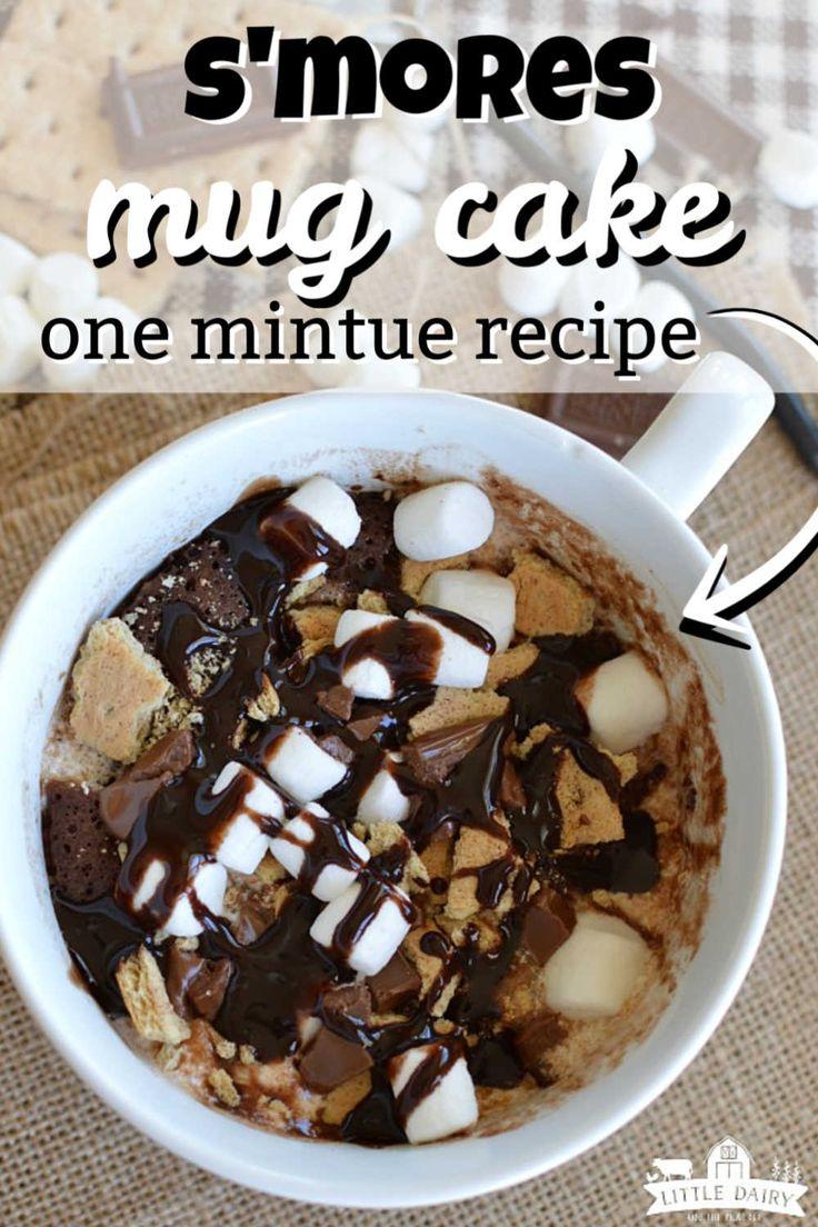 Microwave Smores Mug Cake is a one minute dessert recipe ...