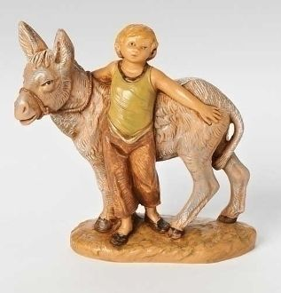 "Nisan, Boy With Donkey, For 5"" Scale Fontanini®"