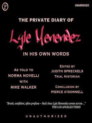 Cover image for The Private Diary of Lyle Menendez
