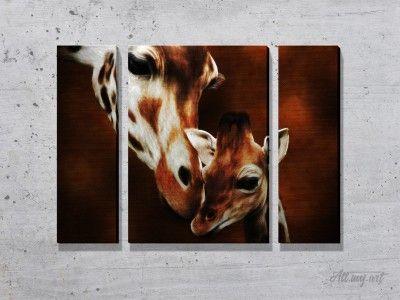 Модульные картины с жирафами. #картина #модульнаякартина #декор #интерьер #дизайнинтерьера #уют #атмосфера