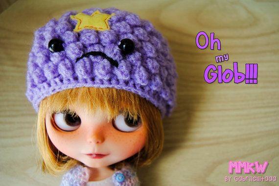 Lumpy Space Princess blythe size hat. Adventure by muimuikawaii