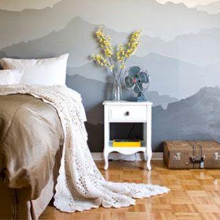 Idee per dipingere le pareti: sfondi acquerellati e paesaggi naturali