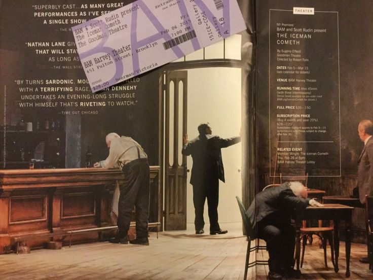 I saw The Iceman Cometh with Nathan Lane and Brian Dennehy on 2/6/15 at BAM.  https://curlyv2.wordpress.com/2015/02/11/the-iceman-cometh/