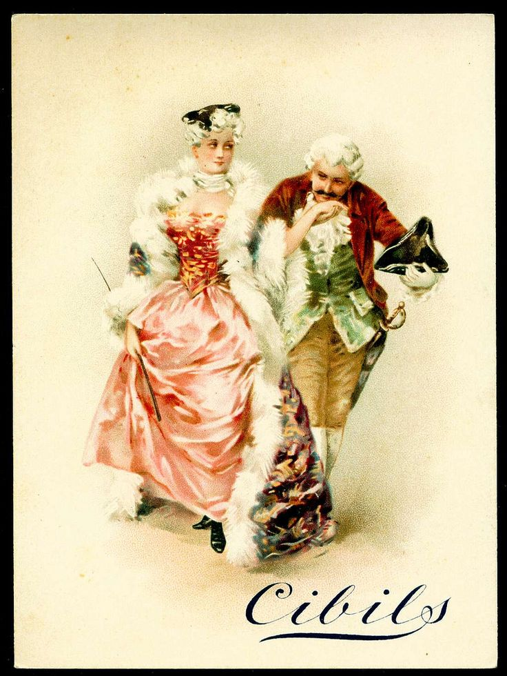 "Cibils Beef Extract (Belgium) ""Courting Couples"" c1899"