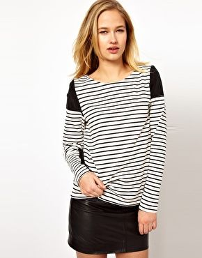 Selected Panelled Stripe Tee