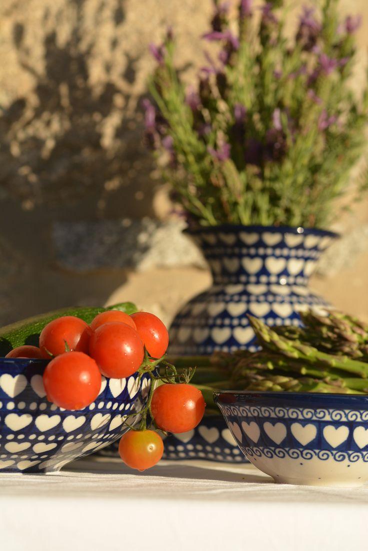 Bunzlau Castle || Italy #Polishpottery #pottery #tableware #home #bunzlau #BunzlauCastle #Stoneware #Bluekitchen #polishblue #Bunzlauservies #kitchen #Italy #textile #coffee #Cappuccino #tea #teatime #dinner