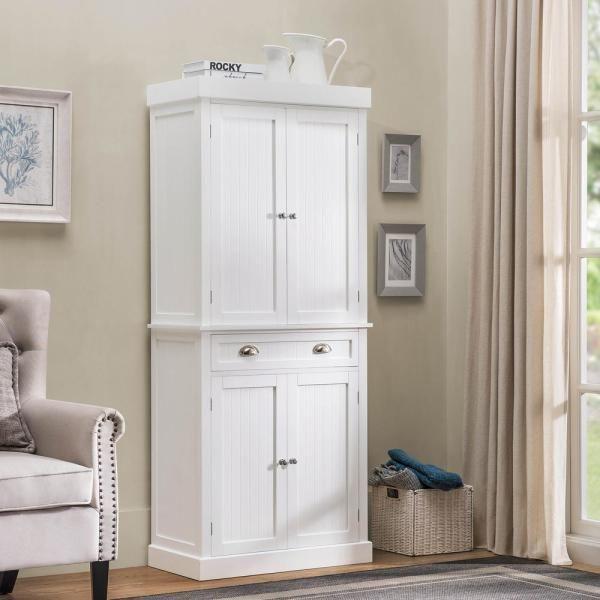 Sunjoy Castro White Wood Decorative Storage Cabinet B212000500 The Home Depot Cabinets Furniture