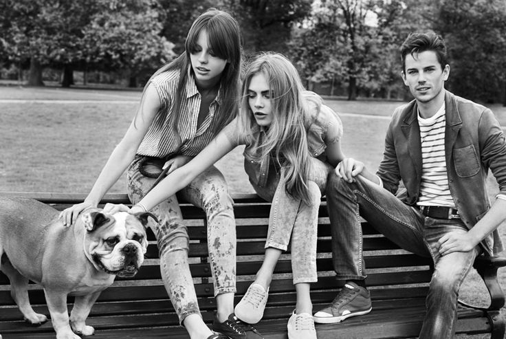 THE SHARPER: Cara Delevingne, Jeremy Young, Mia Goth for Pepe ...