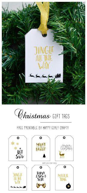 modern Christmas gift tags