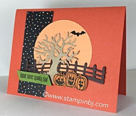 Spooky fun, Halloween Scenes Edgelits, Stampin' up!, BJ Peters, #stampinbj.com, #halloweenscenes, #spookyfun