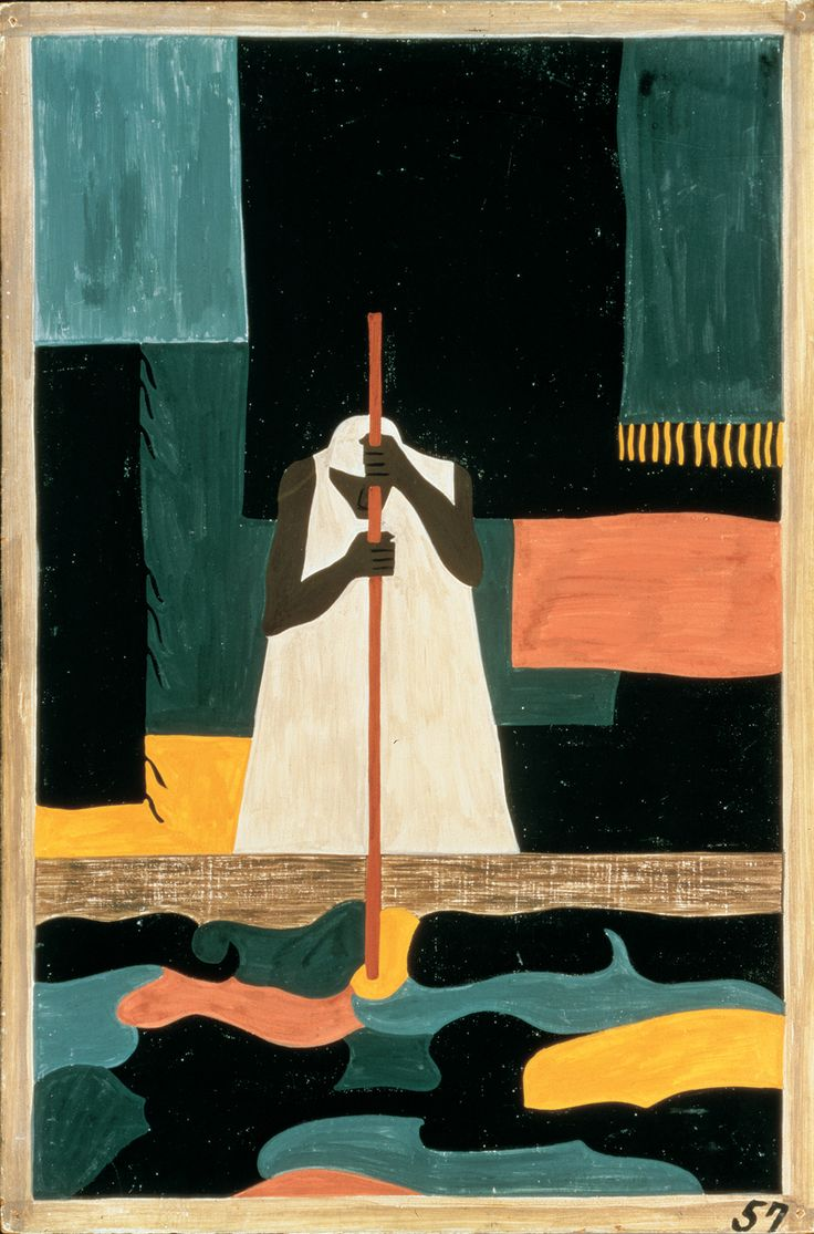 by - Jacob Lawrence,  The Migration Series.  ~Repinned Via John Kline Kansas City Artist