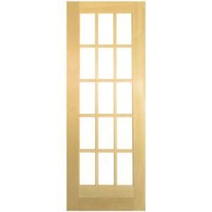 Masonite 32 In. French Solid Core Smooth Unfinished Pine Veneer Composite  Interior Door   The Home Depot