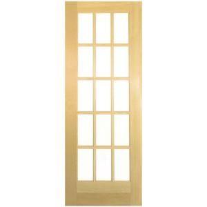 36 in x 80 in composite pine 15 lite french door 255250 for 16 x 80 door