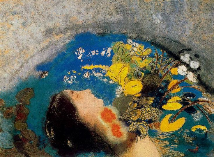 """Ofelia"". Odilon Redon, 1900-05, pastello. Dian Woodner Collection, New York."