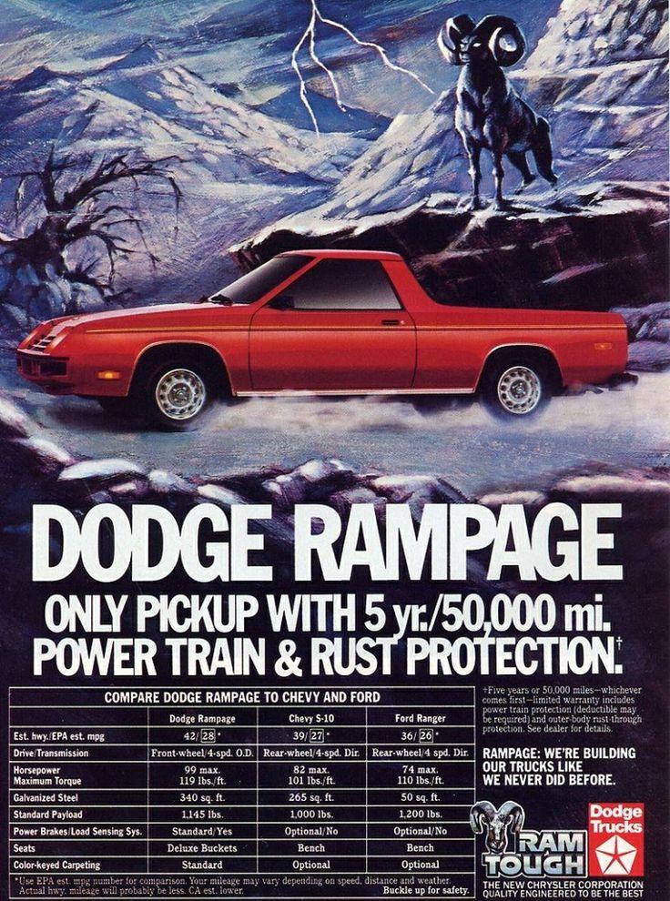 Dodge Rampage Car Pickup