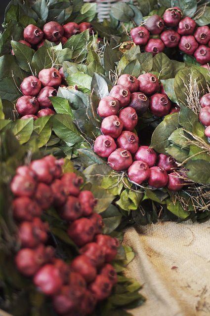 Pomegranate Wreaths…