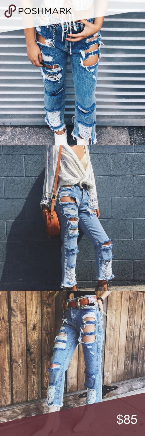 NWT Carmar LF Distressed Owen Holey Jeans Denim NWT. Very popular, Super cute Denim by carmar/LF. No flaws and in excellent condition. Never worn. LF Jeans