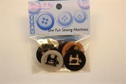 Pose med 6 knapper Motiv knapper - symaskine