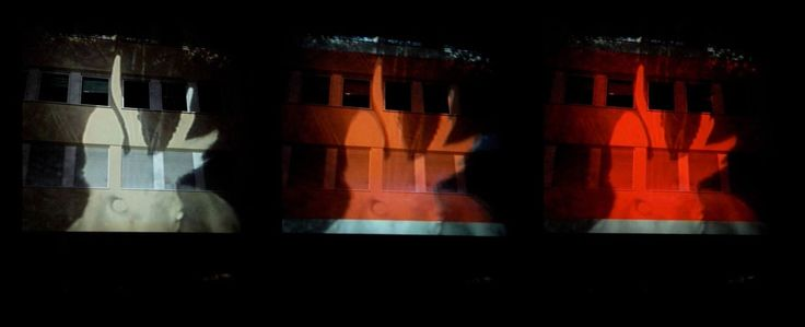 """Exit:Dunkelhain"" - Video-Installation by Lotta Fuchs & VJ The End | Outer Rim Stuttgart @ Lange Nacht der Museen Böblingen 2014  www.kunst-im-club.de | www.outerrim-stuttgart.de"